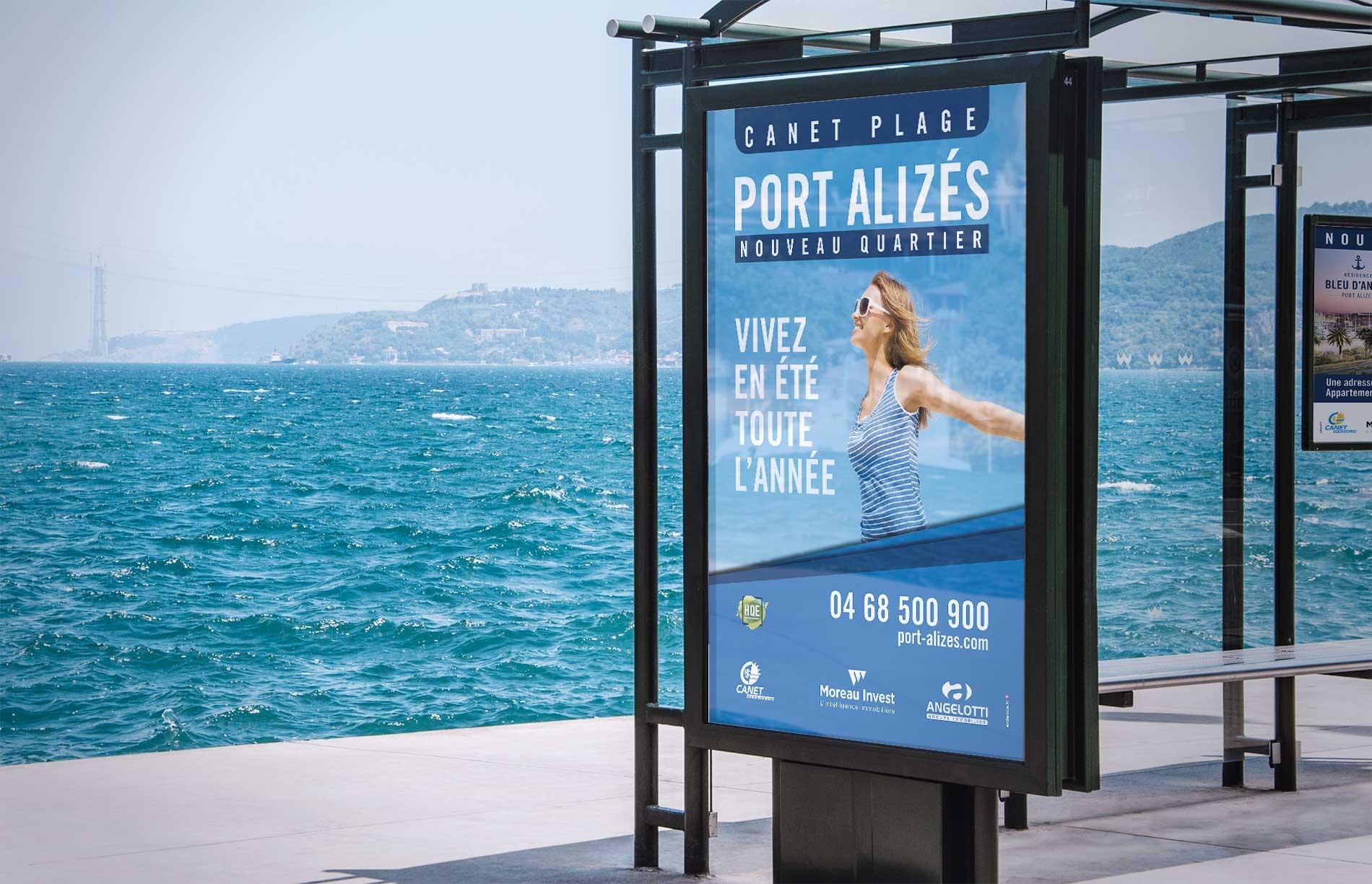 Communication globale nouveau quartier Port Alizés